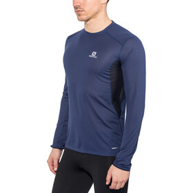 Salomon Trail Runner LS Tee Herren medieval blue/night sky